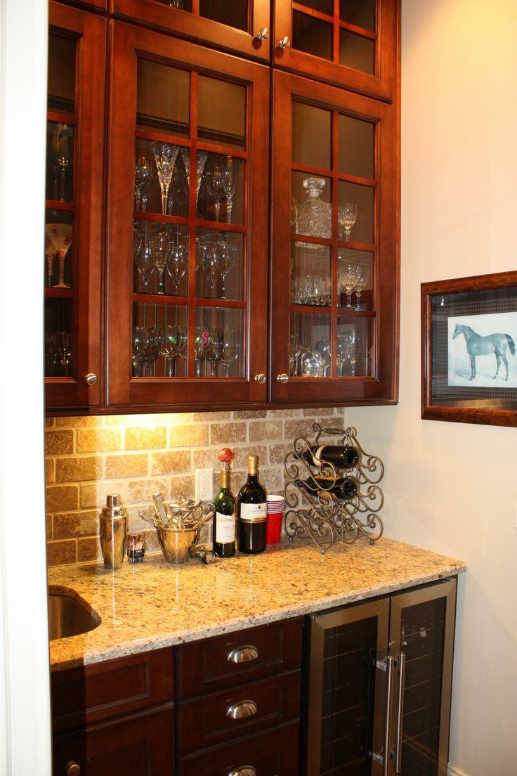 Kitchen Cabinets Raleigh Custom Butlers Pantry Savannah1 Cordovan Glass Hardware Granite
