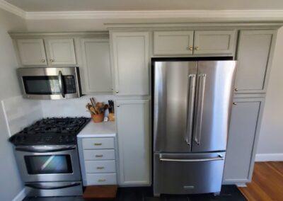 Kitchen Cabinets Raleigh Custom SW Paint Pantry Cabinet LG Minuet Quartz