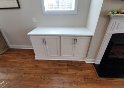 Kitchen Cabinets Raleigh Fireplace Builtins White Shaker Painted