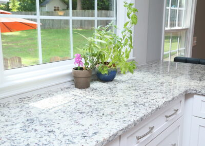 Kitchen Cabinets Raleigh Countertops White Granite Pencil Edge