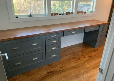 Kitchen Cabinets Raleigh Modern Custom Office Desk Hampton Greystone Paint Wood Top File Drawers