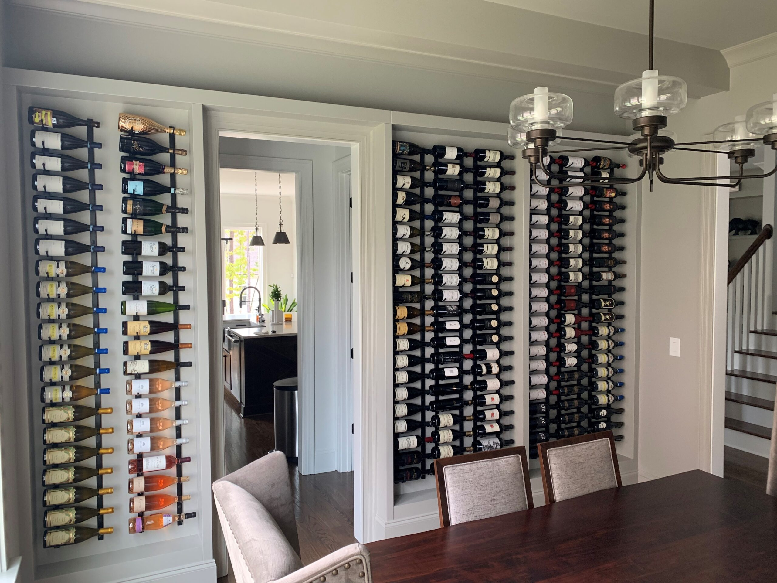 Kitchen Cabinets Raleigh Modern Custom Wine Rack Greystone Paint