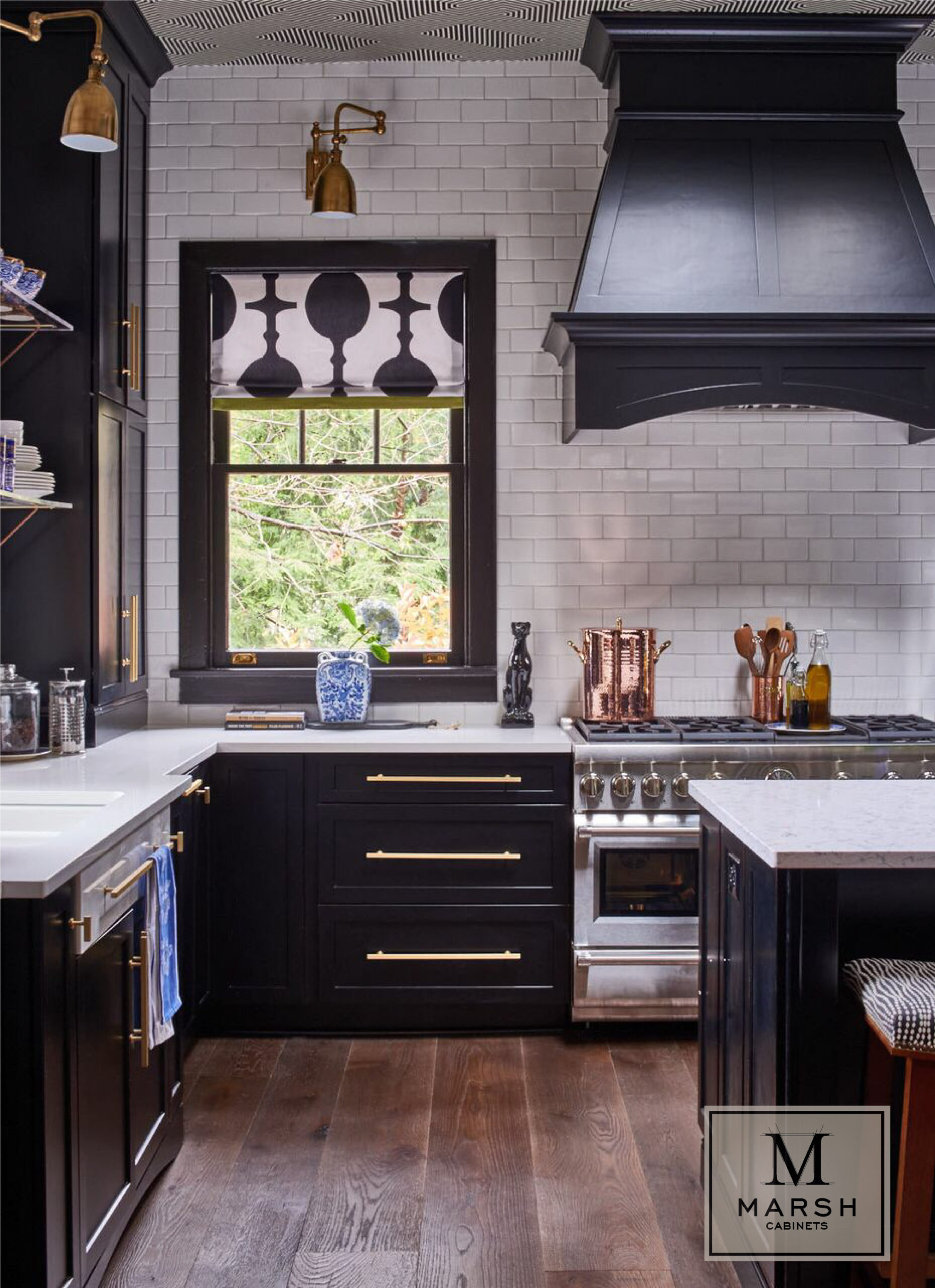 Kitchen Cabinets Raleigh Modern Espresso Wood Hood Bar Pulls Gold Hardware Tile