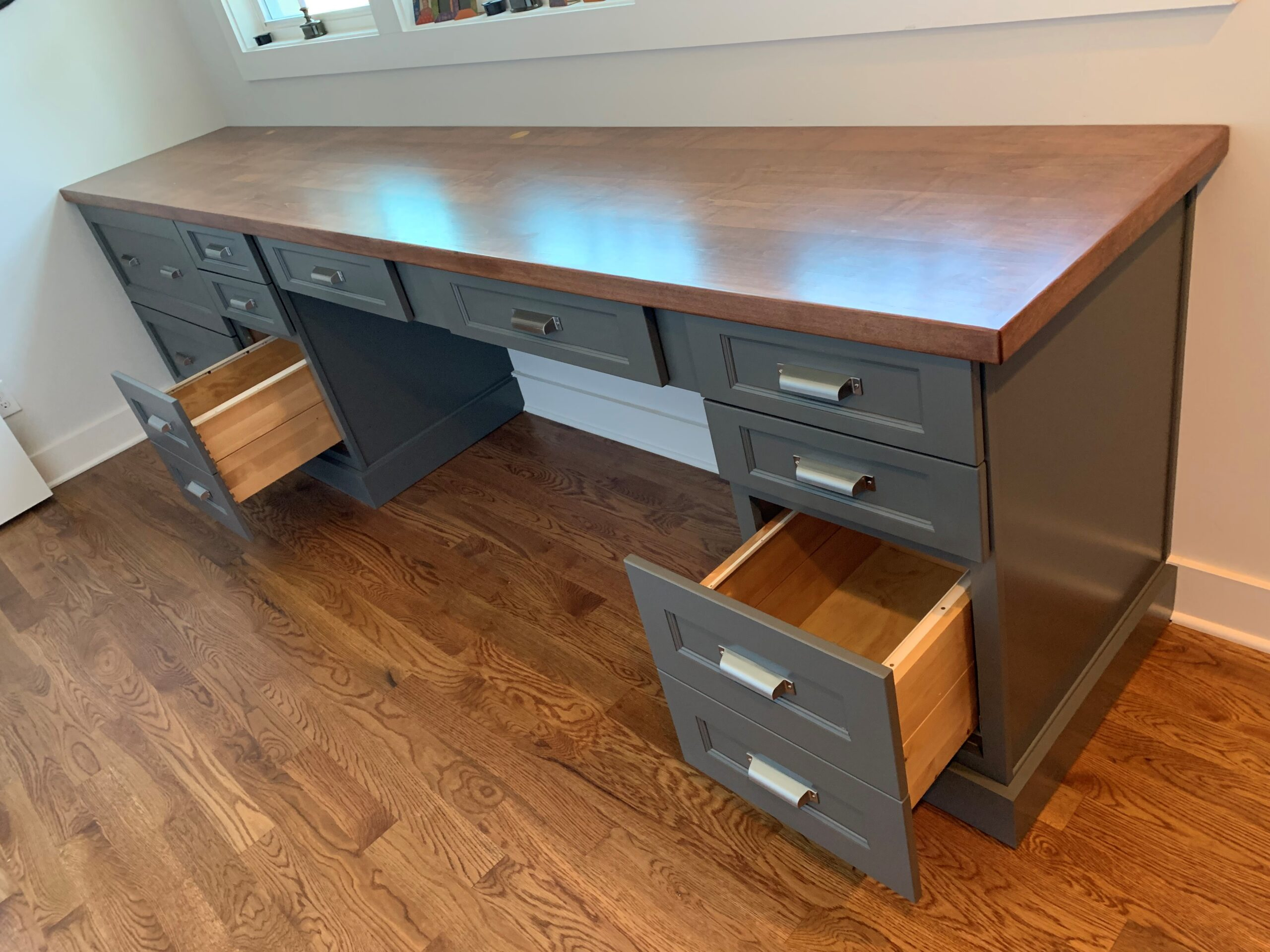 Kitchen Cabinets Raleigh Modern Office Desk Hampton Greystone Paint Wood Top File Drawers