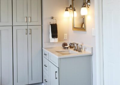 Kitchen Cabinets Raleigh Modern Summerfield Greystone Paint Shaker Quartz Vanity