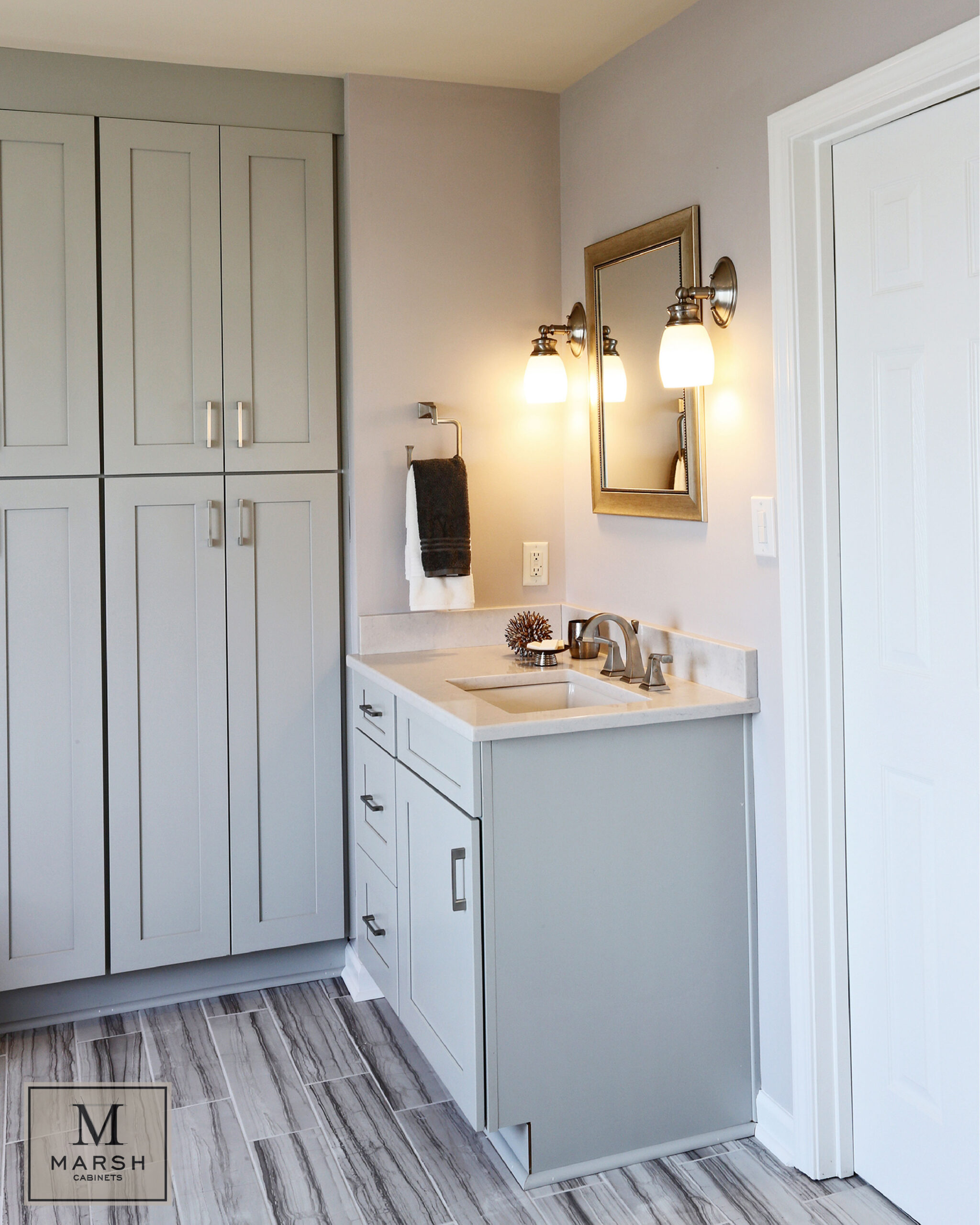 Kitchen Cabinets Raleigh Modern Summerfield Greystone Paint Shaker Quartz Vanity