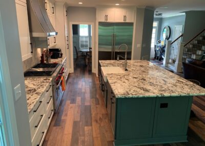 Kitchen Cabinets Raleigh Transistional Hampton1 Linen Island Storm Granite