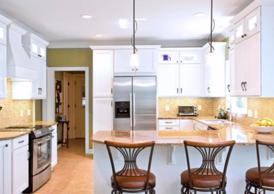 Kitchen Cabinets Raleigh Transitional Alpine Granite Bar Height Glass
