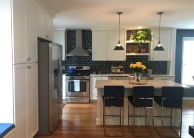 Kitchen Cabinets Raleigh Transitional Savannah1 Alpine White Paint Shaker Quartz Tile