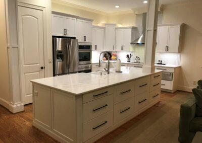 Kitchen Cabinets Raleigh Transitional Savannah2 Alpine White Paint Shaker Cabinets Quartz