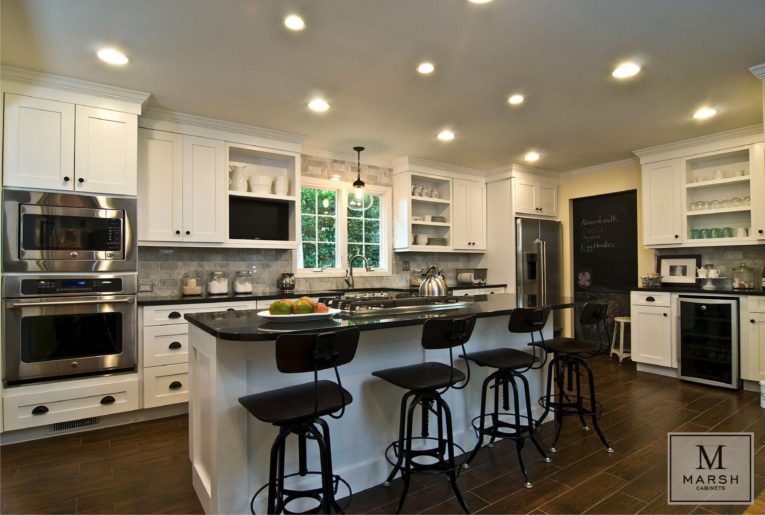Kitchen Cabinets Raleigh Transitional Summerfield1 Alpine White Shaker