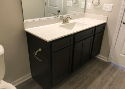 Kitchen Cabinets Raleigh Transitional York Espresso Stain Cultured Marble Rectangle Sink Vanity