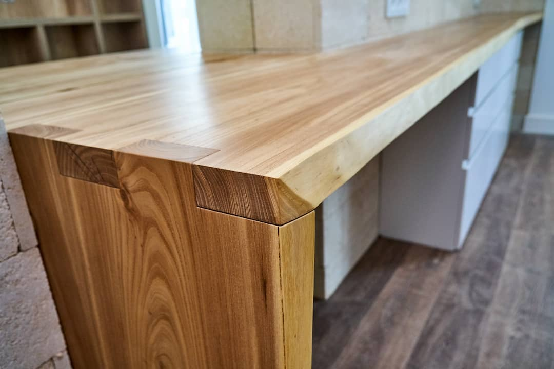 Raleigh Kitchen Cabinets Open Box Joint Live Edge Credenza