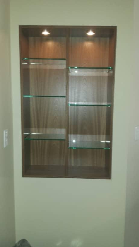 Raleigh Kitchen Cabinets Sapele Open Shelf Glass Shelves