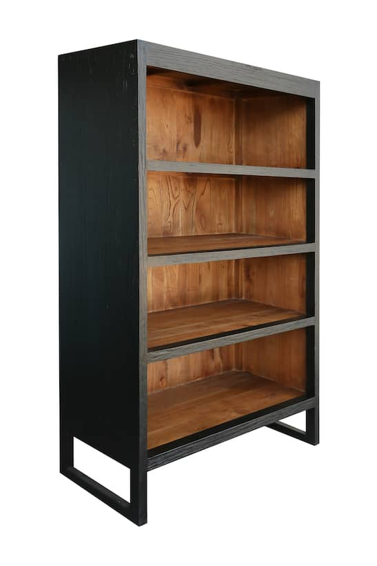 Raleigh Kitchen Cabinets Two Tone Book Case Cherry Oak Industrial Look