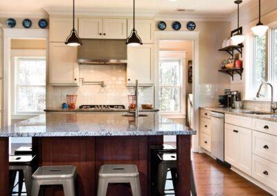 Kitchen Cabinets Raleigh Transitional Marsh Summerfield Linen Island Café Hardware Granite