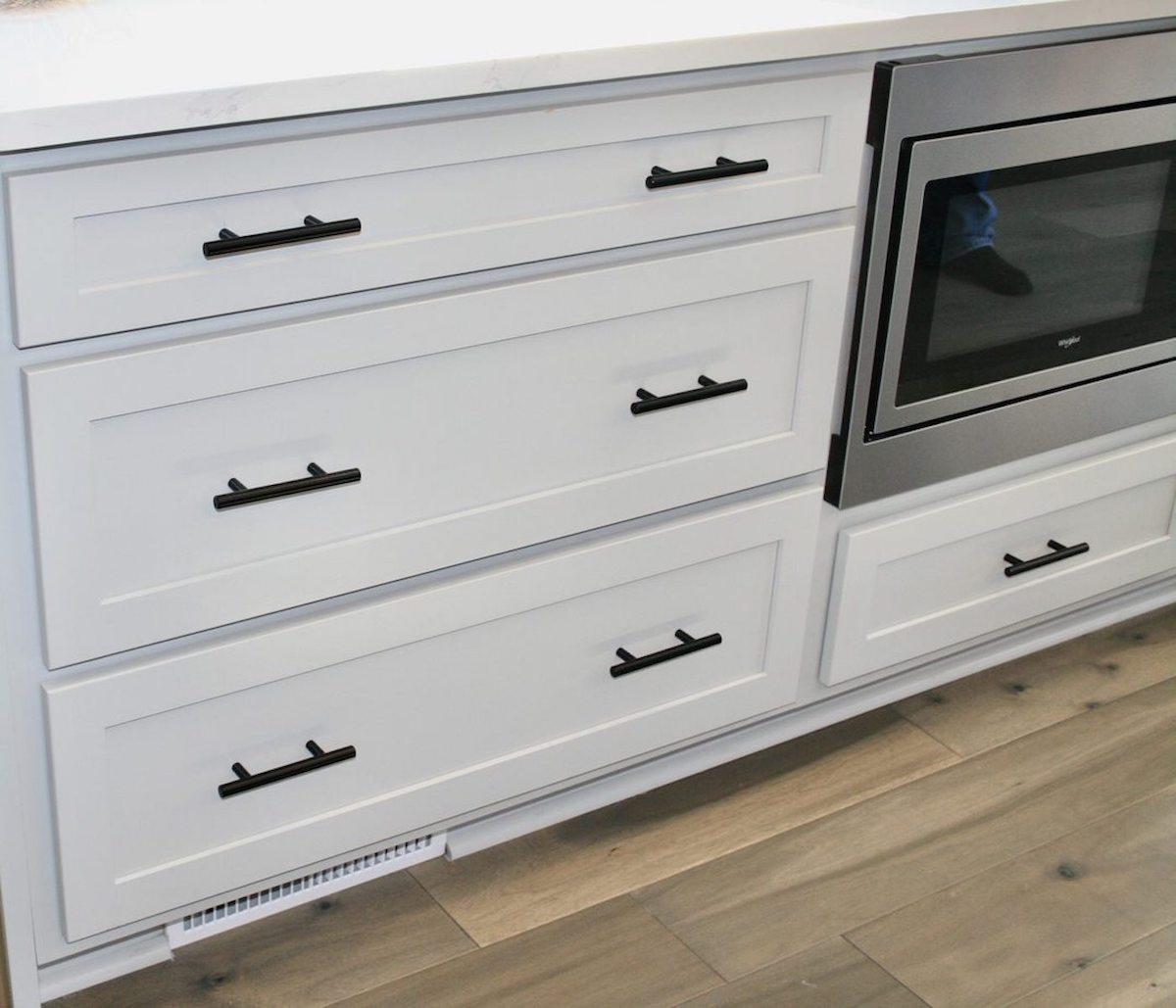 Kitchen Cabinets Raleigh Atlanta 1 Alpine Matte Black Hardware