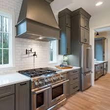 Kitchen Cabinets Raleigh Atlanta 1 Graphite Subway Tile Quartz