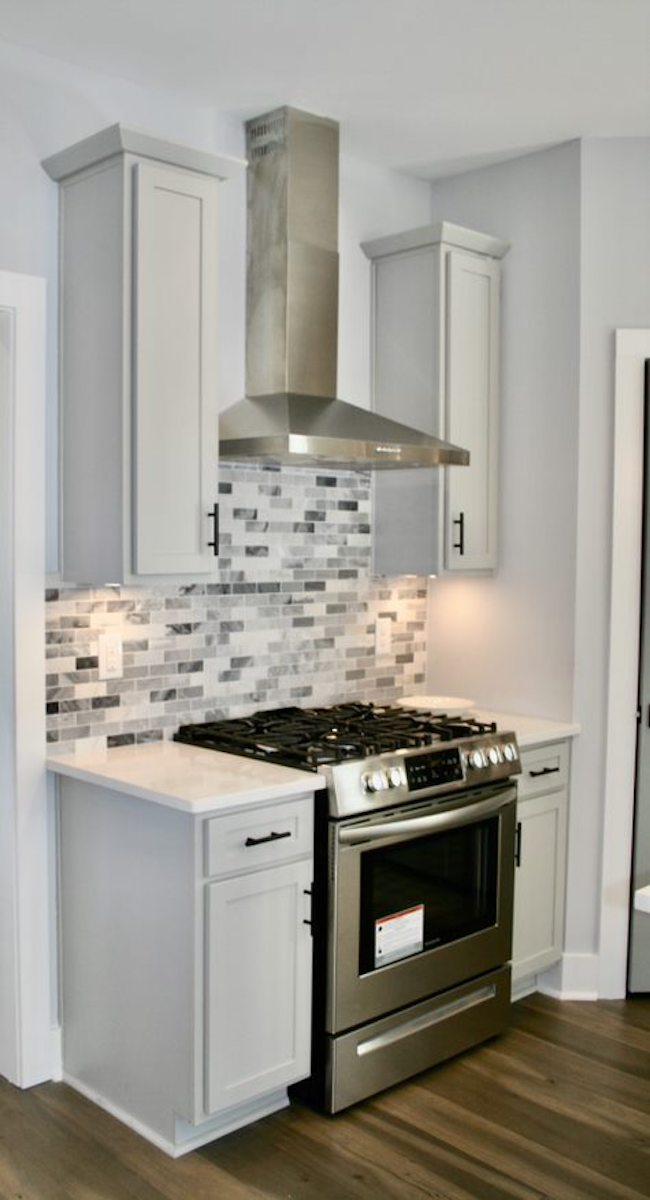 Kitchen Cabinets Raleigh Atlanta 1 Greystone Matte Black Hardware 2
