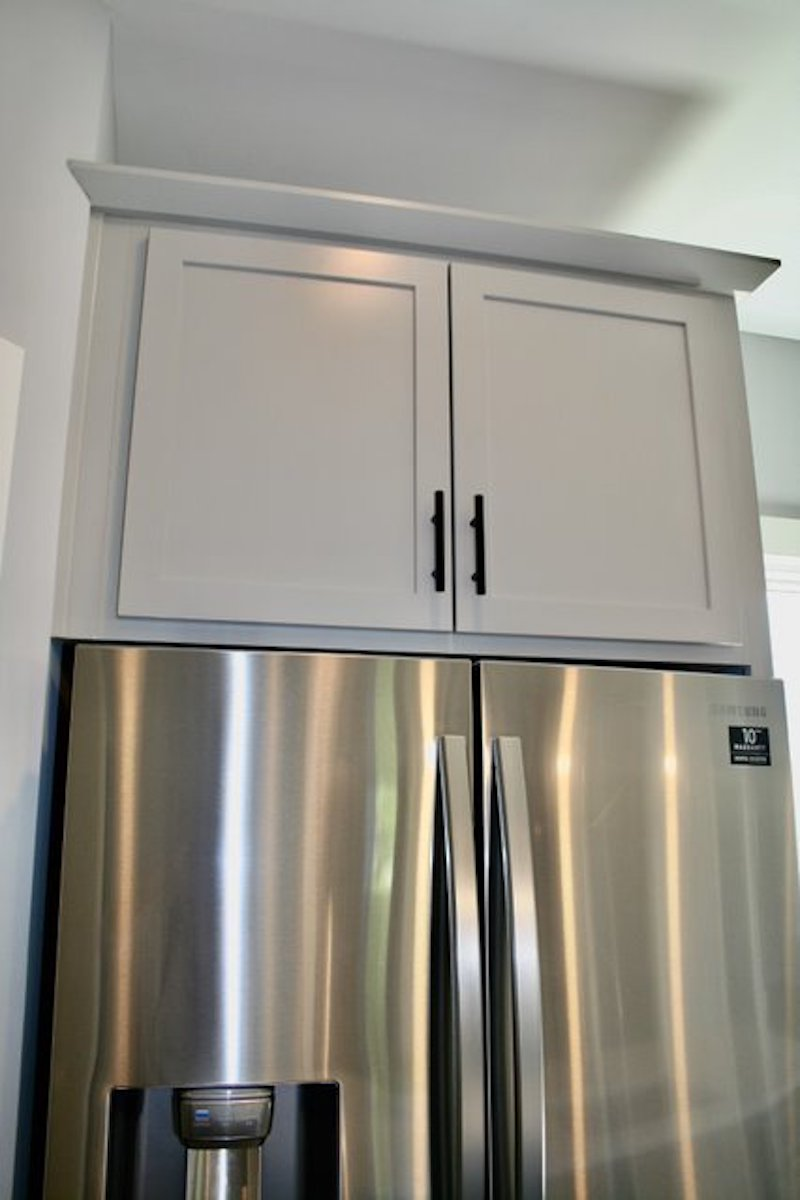 Kitchen Cabinets Raleigh Atlanta 1 Greystone Matte Black Hardware 3