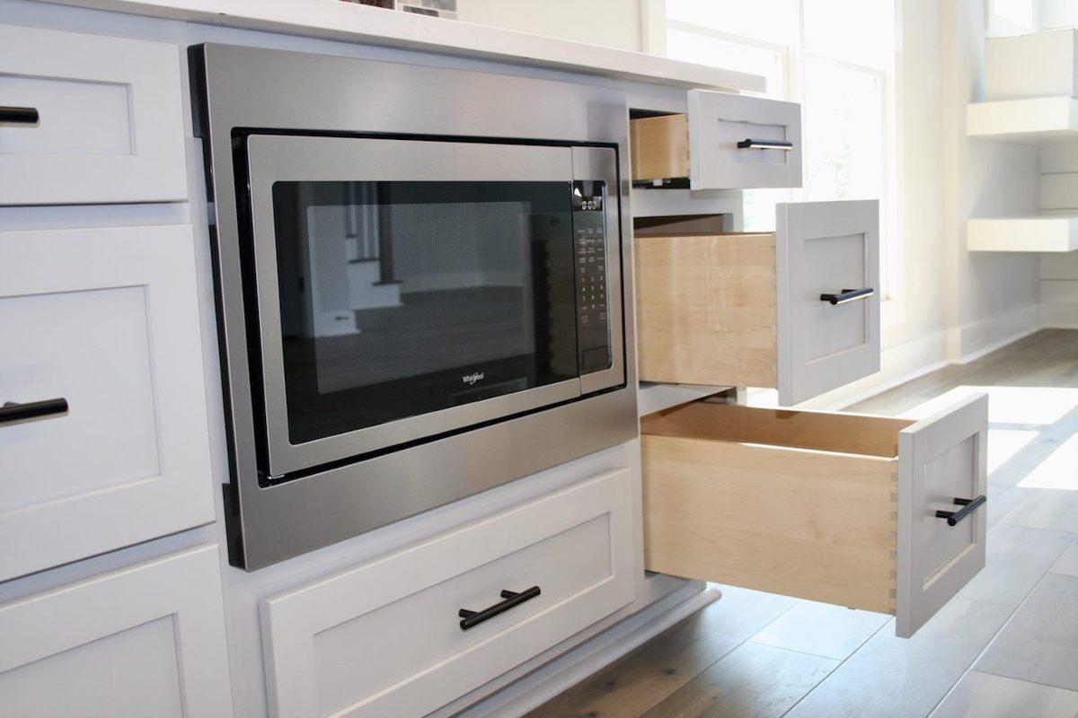 Kitchen Cabinets Raleigh Atlanta 1 Greystone Matte Black Hardware