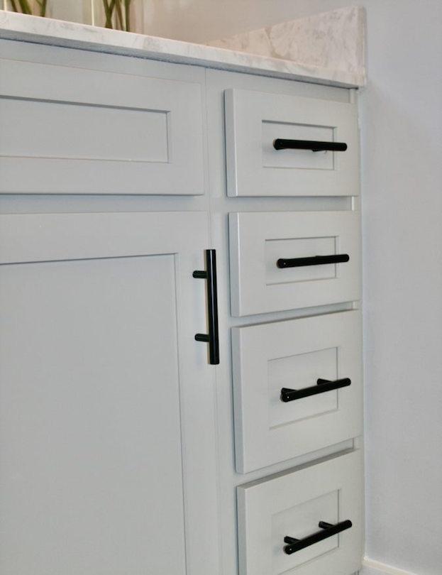 Kitchen Cabinets Raleigh Atlanta 1 Greystone Vanity Matte Black Hardware