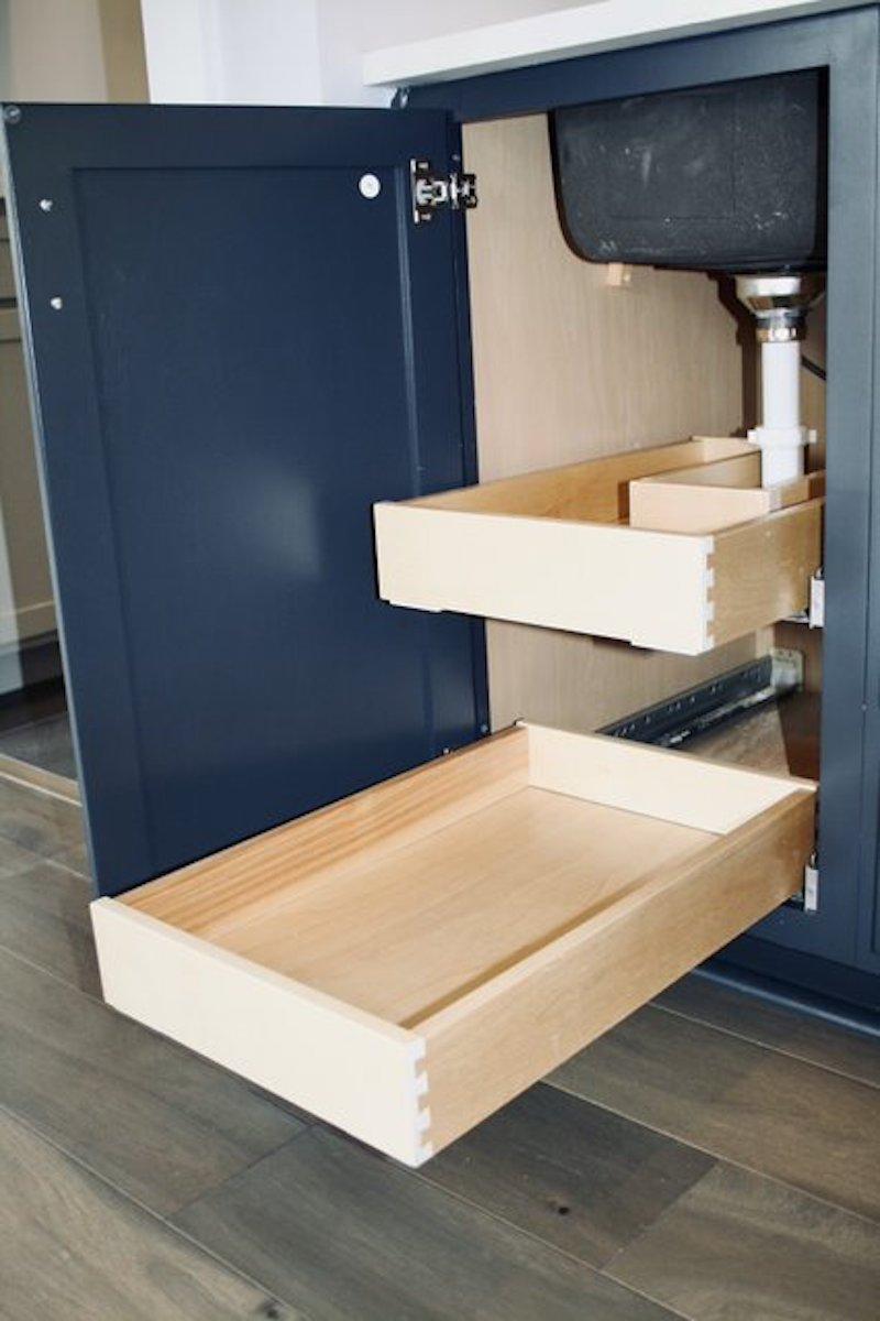 Kitchen Cabinets Raleigh Atlanta 1 Hatteras Blue Custom Island Space Saver