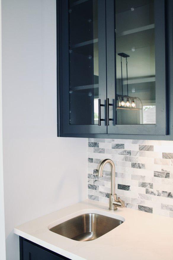 Kitchen Cabinets Raleigh Atlanta 1 Hatteras Blue Wet Bar Tile