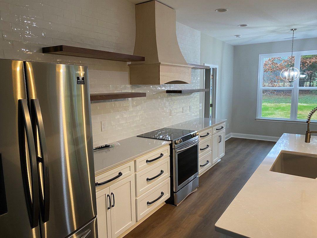 Kitchen Cabinets Raleigh Atlanta Alpine Galley Transitional Tile Backsplash