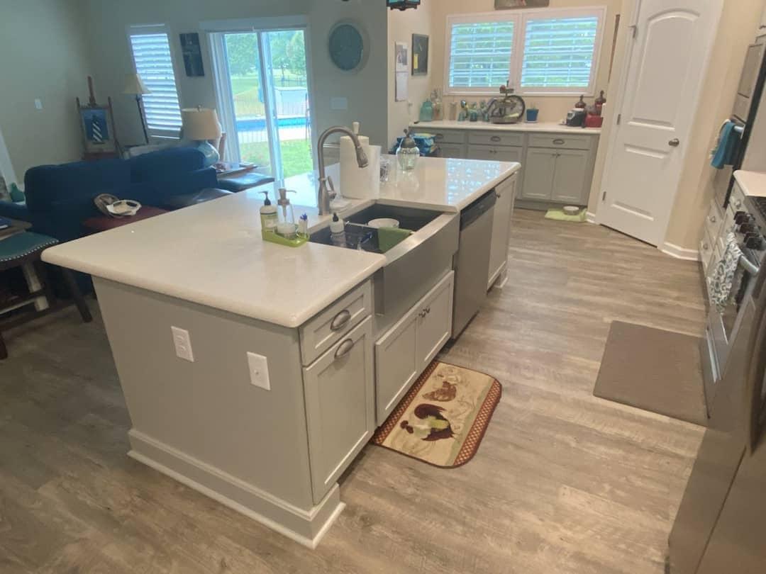 Kitchen Cabinets Raleigh Atlanta Greystone Oversized Island