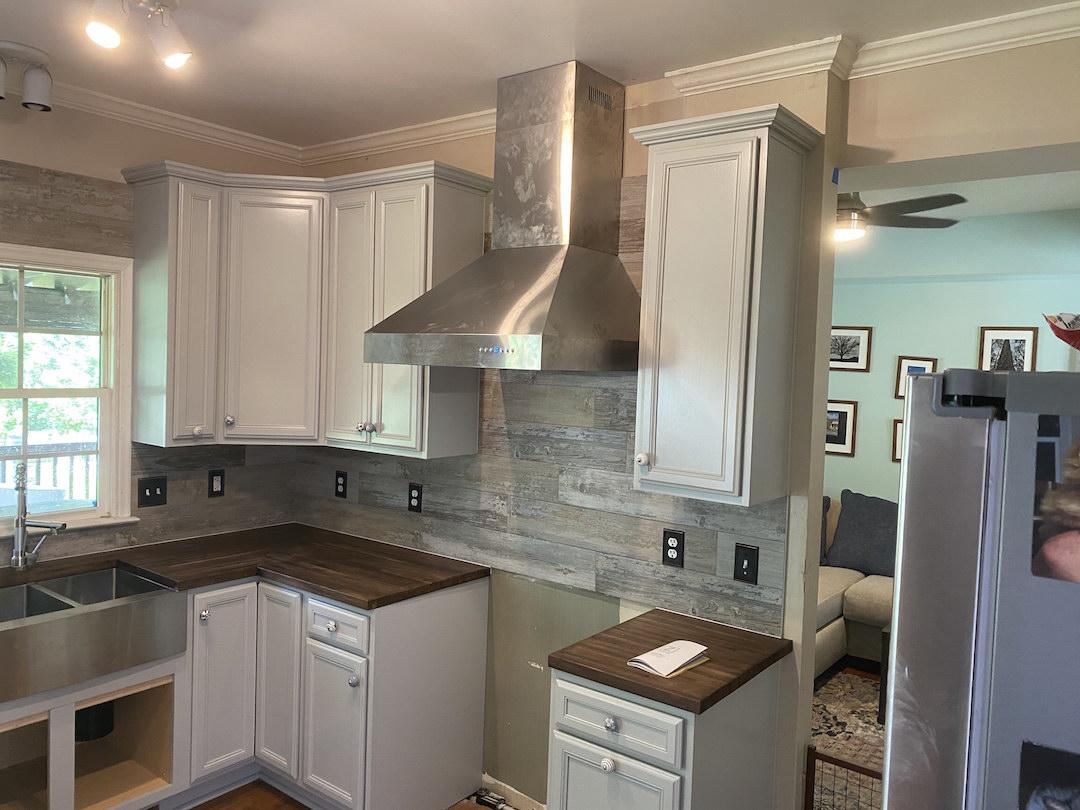 Kitchen Cabinets Raleigh Brunswick 1 Greystone Tile Backsplash