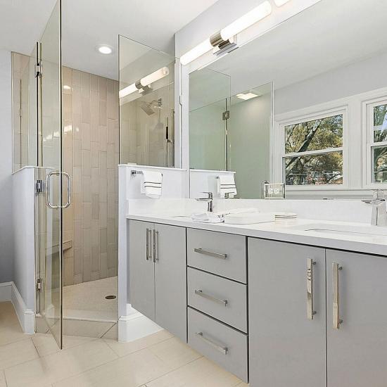 Kitchen Cabinets Raleigh Modern Vanity Apex Greystone