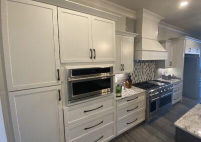 Kitchen Cabinets Raleigh Summerfield Cloud Matte Black Hardware