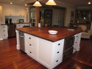 Kitchen Cabinets Raleigh Transitional Butcher Block Alpine Eat In Kitchen