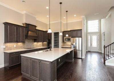 Kitchen Cabinets Raleigh Transitional Charleston Cocoa Tile Quartz