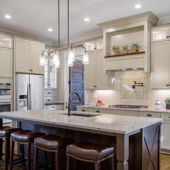 Kitchen Cabinets Raleigh Transitional Savannah Linen Cocoa Island