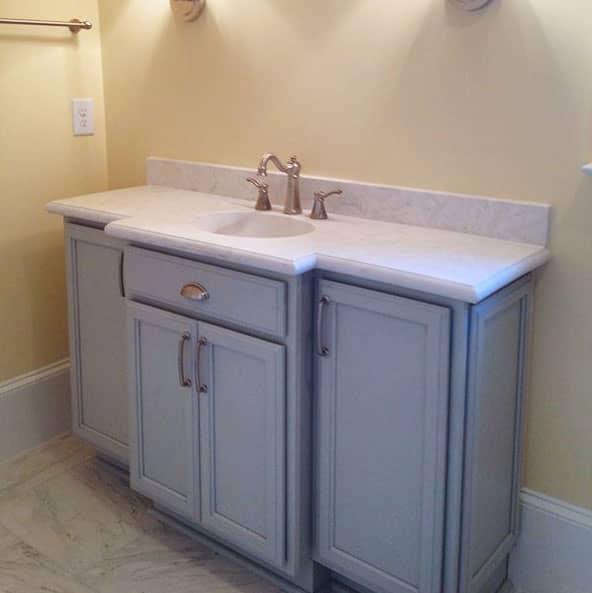 Kitchen Cabinets Raleigh Vanity Cambridge Cloud Marble