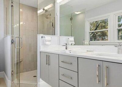 Kitchen Cabinets Raleigh Vanity Contemporary Modern Apex Greystone Hardware Quartz